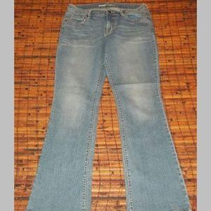Ladies mid rise stretch blend jeans EUC light wash